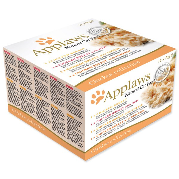 Konzervy APPLAWS Cat Chicken Selection multipack - 840 g