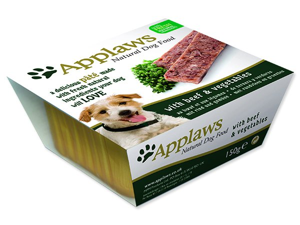 Paštika APPLAWS Dog Pate with Beef & Vegetables - 150 g