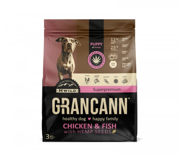 Grancann Chicken & Fish with Hemp seeds-Puppy all breeds