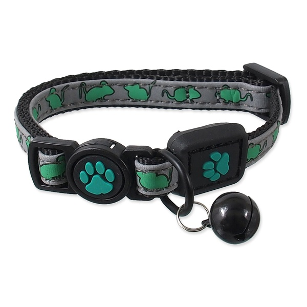 Obojek ACTIVE CAT Reflective limetka XXS