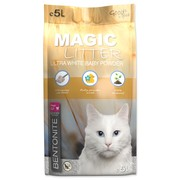 Kočkolit MAGIC LITTER Bentonite Ultra White Baby Powder - 5l